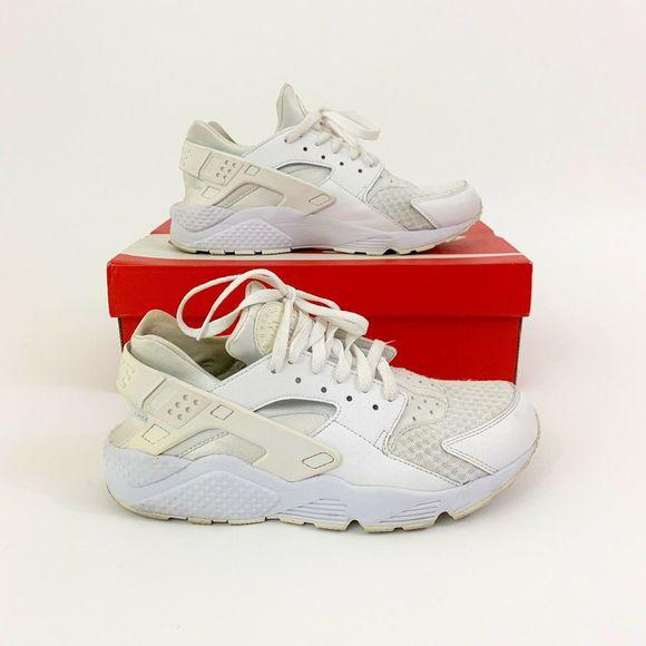 Nike Air Huarache White Size 9 Mens Lightly Worn